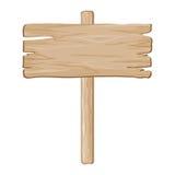 Vector wooden board sign vector illustration