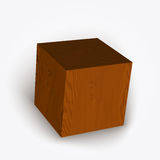 Vector wooden box Royalty Free Stock Photos