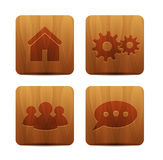 Vector wooden buttons Stock Photos