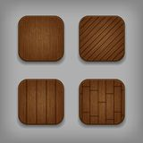 Vector wooden buttons set Stock Image