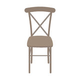 Vector Wooden Chair Isolated on white background. Royalty Free Stock Photography