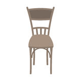 Vector Wooden Chair Isolated on white background. Stock Images
