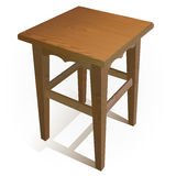 Vector wooden chair Stock Images