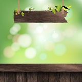 Vector wooden deck table Stock Images