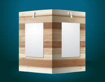 Vector wooden exhibition stand Stock Photography