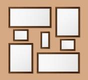 Vector, wooden frame. Stock Photos