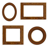Vector wooden frames Royalty Free Stock Photo
