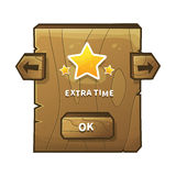 Vector wooden game ui Stock Images