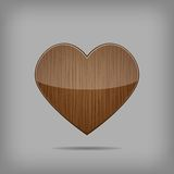 Vector wooden heart. Stock Image