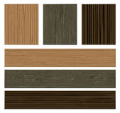 Vector wooden materials collection. Royalty Free Stock Photo