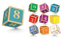 Vector wooden number blocks Stock Image