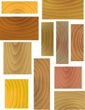 Vector Wooden Patterns Stock Photo