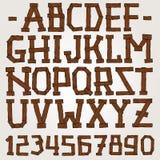 Vector wooden planks font. Vector set stock illustration