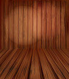 Vector wooden planks interior with Illuminated Royalty Free Stock Images
