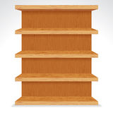 Vector Wooden Shelves. Ready for Your Design. royalty free illustration