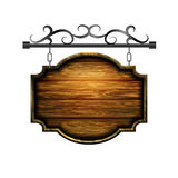 Vector wooden signboard Stock Photo