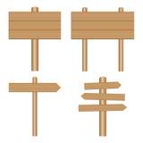 Vector wooden signs, plaque Stock Photos