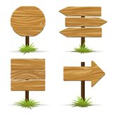 Vector wooden signs Royalty Free Stock Photos