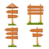 Vector wooden signs set Stock Image