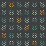 Vector Woodland Arrows on dark Seamless Pattern Background. stock illustration