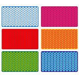 Vector wool textured cards Royalty Free Stock Photography