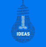 Vector word cloud of ideas light bulb Royalty Free Stock Image