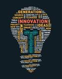 Vector word cloud of innovation light bulb. Vector illustration eps-10 Stock Image