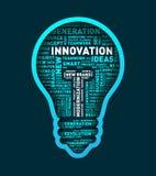 Vector word cloud of innovation light bulb. Vector illustration eps-10 Stock Photo