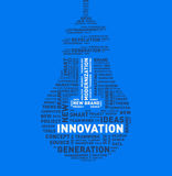 Vector word cloud of innovation light bulb Royalty Free Stock Photography