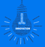 Vector word cloud of innovation light bulb. Vector illustration eps-10 Royalty Free Stock Photography