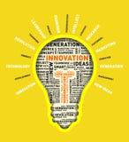 Vector word cloud of innovation light bulb. Vector illustration eps-10 Stock Images