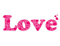 Vector word love made of hearts Royalty Free Stock Photos