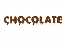 Vector word made of chocolate. Royalty Free Stock Photos