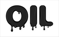 Vector word made of oil. Stock Photography