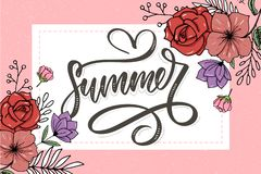 Vector word sale .Letters made of flowers and leaves Summer sale Holiday Flyer Banner Poster Summer sales. Vector word sale .Letters made of flowers and leaves stock illustration