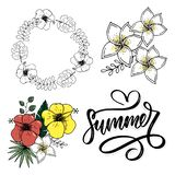 Vector word sale .Letters made of flowers and leaves Summer sale Holiday Flyer Banner Poster Summer sales. Vector word sale .Letters made of flowers and leaves royalty free illustration