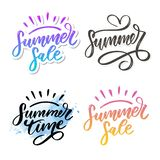 Vector word sale .Letters made of flowers and leaves Summer sale Holiday Flyer Banner Poster Summer sales. Vector word sale .Letters made of flowers and leaves vector illustration