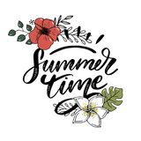 Vector word sale .Letters made of flowers and leaves Summer Time Holiday Flyer Banner Poster Summer sales. Vector word sale .Letters made of flowers and leaves vector illustration
