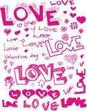 Vector words love stock photos