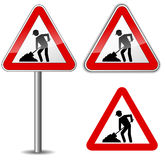 Vector work sign Royalty Free Stock Image