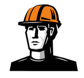 Vector worker man Royalty Free Stock Image