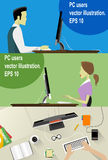 Vector Workplace Concept Flat Illustration. Stock Images