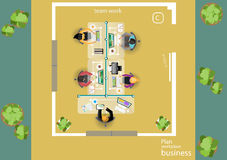 Vector works pace for business meetings and brainstorming. Analysis plan Concept and web banners, print media and mobile technolog. Y, tablet, laptop, diary and Royalty Free Stock Image