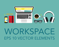 Vector workspace elements Stock Images