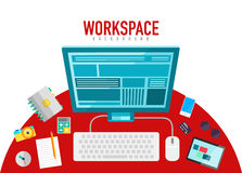 Vector workspace elements Royalty Free Stock Image