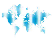 Vector of the world. In blue Royalty Free Stock Images