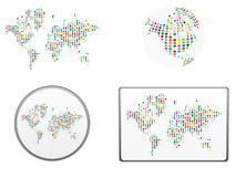 Vector of the world. In many colors Stock Images