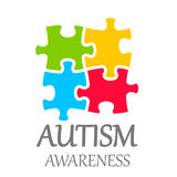 Vector world autism awareness day. Poster on white background Royalty Free Stock Photography