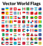 Vector World Flags Royalty Free Stock Photography