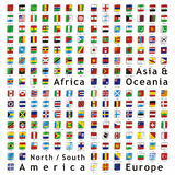 Vector world flags web buttons Stock Image